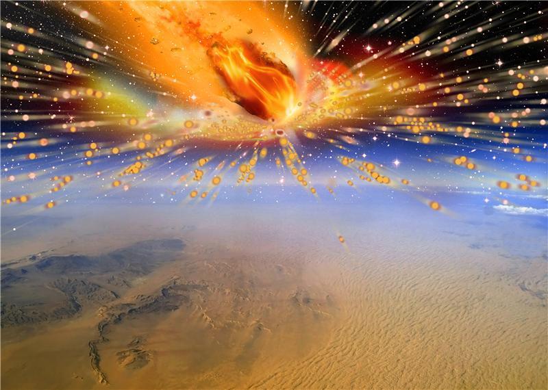esplosione della cometa egiziana