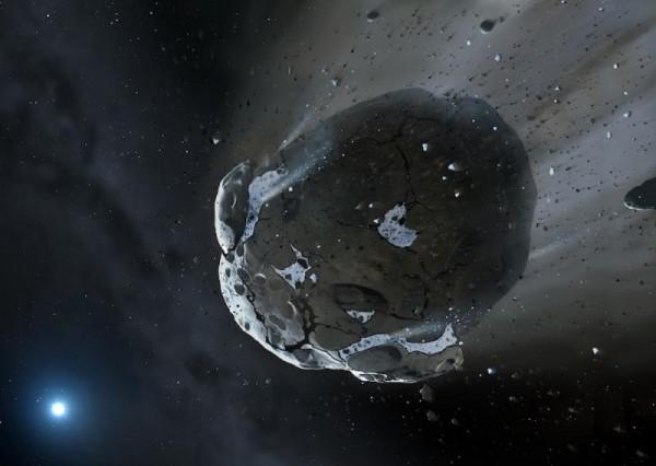 il pianeta distrutto da una nana bianca