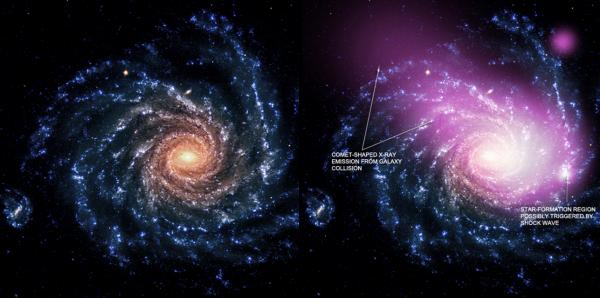 scontro di galassie