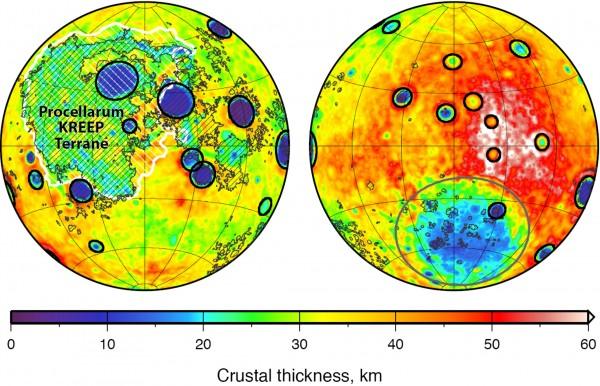 mappa gravitazionale della Luna
