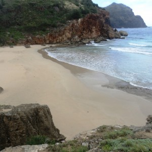 Figura 23. Kauai. Halua Beach, forse la più bella e selvaggia dell'intera isola.