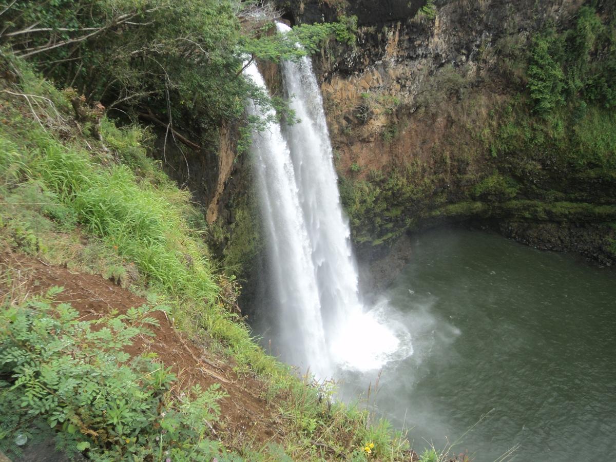 Figura 31. Kauai. La doppia cascata di Kailua.
