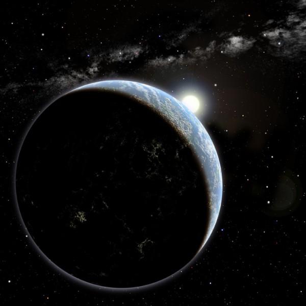 Questo potrebbe essere un pianeta di tipo terrestre attorno a una stella gialla come la nostra. Se l'età fosse quella giusta, un giorno la nostra tecnologia potrebbe anche accorgersi che è abitata attraverso la variazione delle luci artificiali durante una sua rotazione. Mai dire mai… Fonte: David A. Aguilar (CfA)