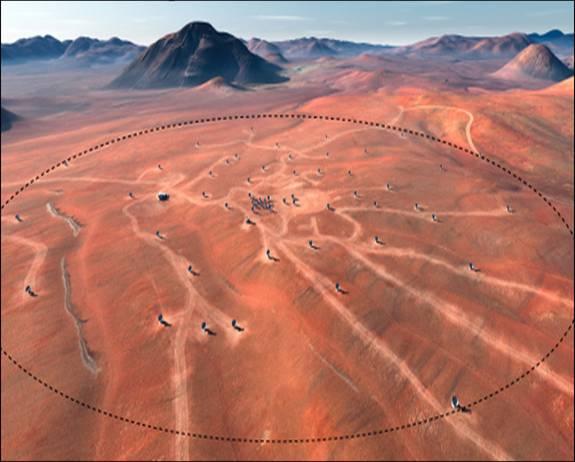 Il luogo dove si trova ALMA. Fonte: ALMA(ESO/NAOJ/NRAO), L.Calcada (ESO).