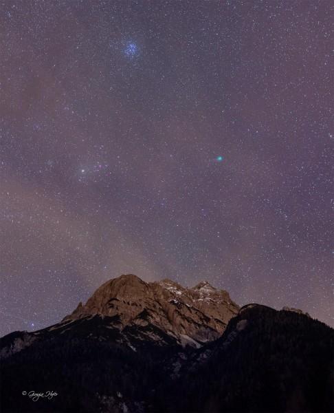 Miaron, cometa Lovejoy, Pleiadi e Toro piccola