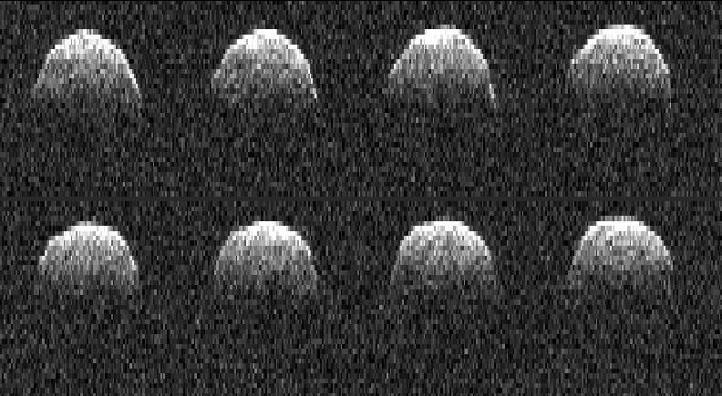 L'asteroide NEA Bennu, ripreso dal radiotelescopio di Goldstone. Fontee: NASA