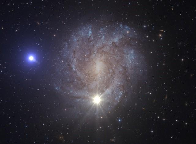 Una foto (ma forse solo un fotomontaggio) della stella fuggitiva. Alcuni pensano di notare un ghigno sardonico sul suo emisfero esterno… Fonte: ESA/Hubble, NASA