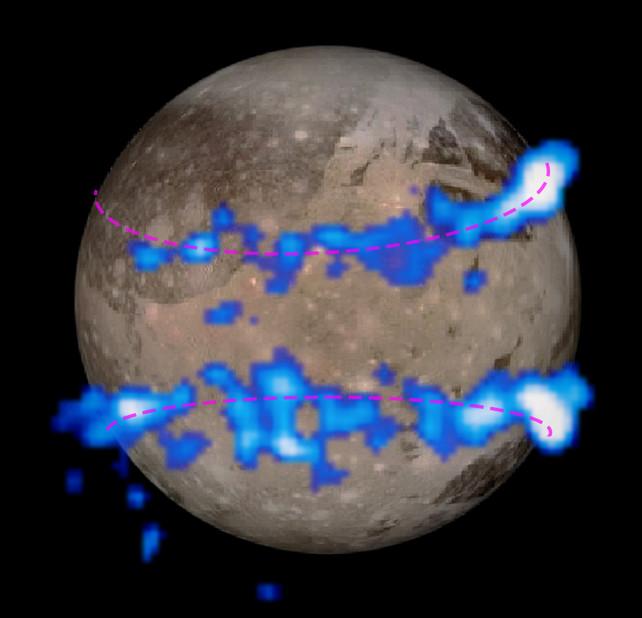 Fonte: NASA, ESA, e J. Saur (University of Cologne, Germany)