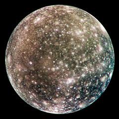 Callisto e i suoi bianchi crateri