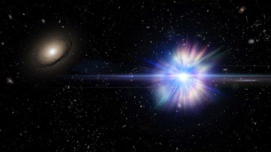 Immagine artistica di una supernova Ia esplosa nel vuoto intergalattico. Dr. Alex H Parker, NASA e SDSS