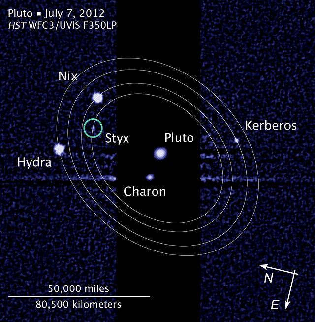 Il sistema di Plutone e Caronte (per adesso). Fonte: NASA, ESA, e L. Frattare (STScI)