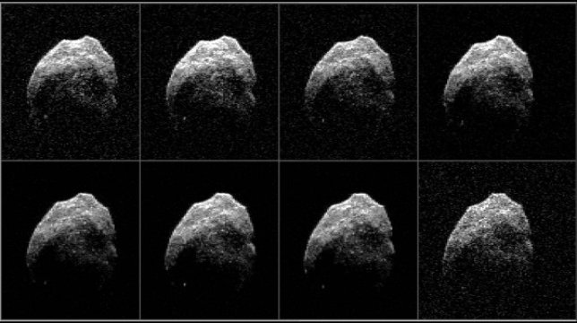 Le immagini radar ricevute a Green Bank mostrano particolari ben più dettagliati rispetto al lavoro singolo di Arecibo. Fonte: NASA/JPL-Caltech/GSSR/NRAO/AUI/NSF