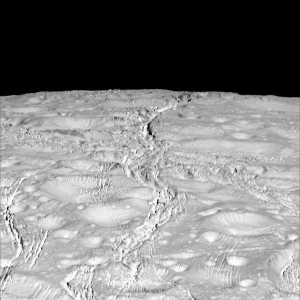 Terreno antico segnato da attività giovane. Una visione affascinante. Fonte: NASA/JPL-Caltech/SSI