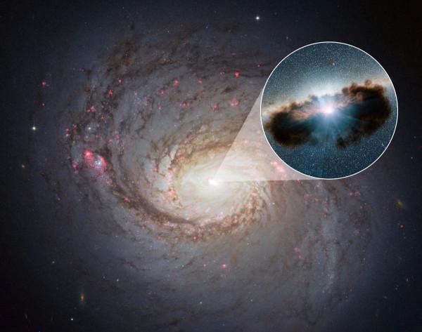 Anche le immagini artistiche non disdegnano di far vedere una luce intensa provenire da ciò che dovrebbe essere nero. Fonte: NASA/ESA