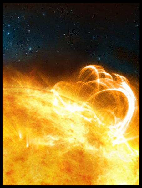 Un normale flare solare, un breve e debole colpo di tosse. Cosa può diventare in caso di una vera bronchite? Fonte: University of Warwick/Ronald Warmington