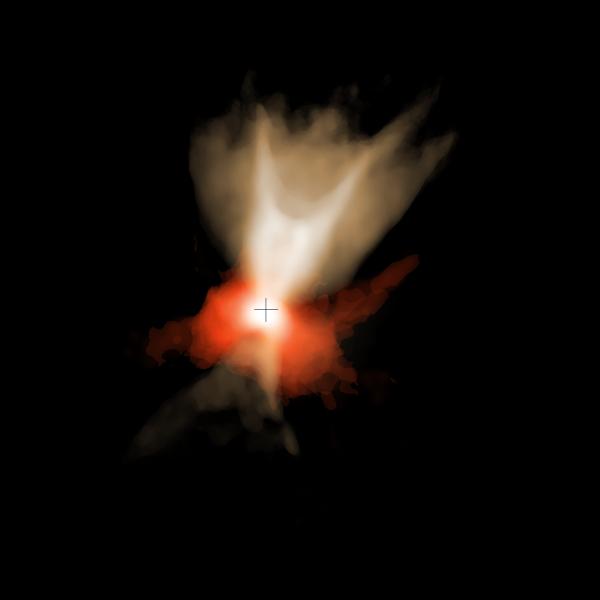 Fonte: ALMA (ESO/NAOJ/NRAO), Aso et al.