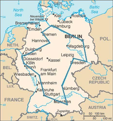 Date 15 città tedesche, esiste un percorso minimo che le visiti tutte una e una sola volta. Sembrerebbe banale. Ma invece esistono più di 43 miliardi di possibilità, tra le quali una sola è quella più corta. Per i più esperti, il numero di possibilità è dato da 14! (14 x 13 x 12 x….3 x 2 x1), diviso per due, dato che non ha importanza il verso del tragitto (senso orario o senso antiorario).