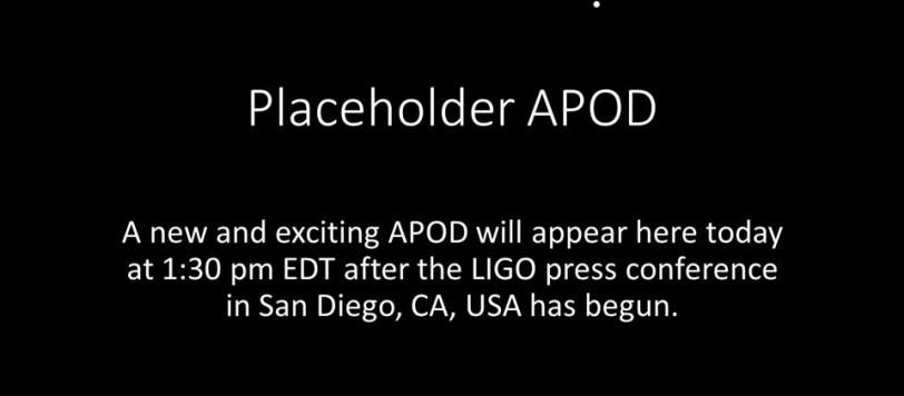 La pagina odierna di APOD...