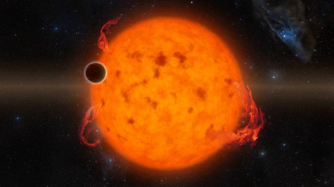 Il Nettuno-caldo passa davanti alla sua stella (visione artistica). Fonte: NASA/JPL-Caltech