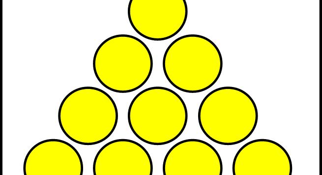 quante monete dovete muovere per ottenere lo stesso triangolo con la punta rivolta verso il  basso.  Ovviamente, meno ne muovete è meglio è!