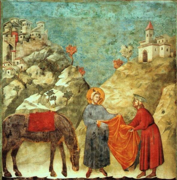 """""""Dono del mantello"""" (1296-99 circa) - Basilica Superiore (Assisi)"""