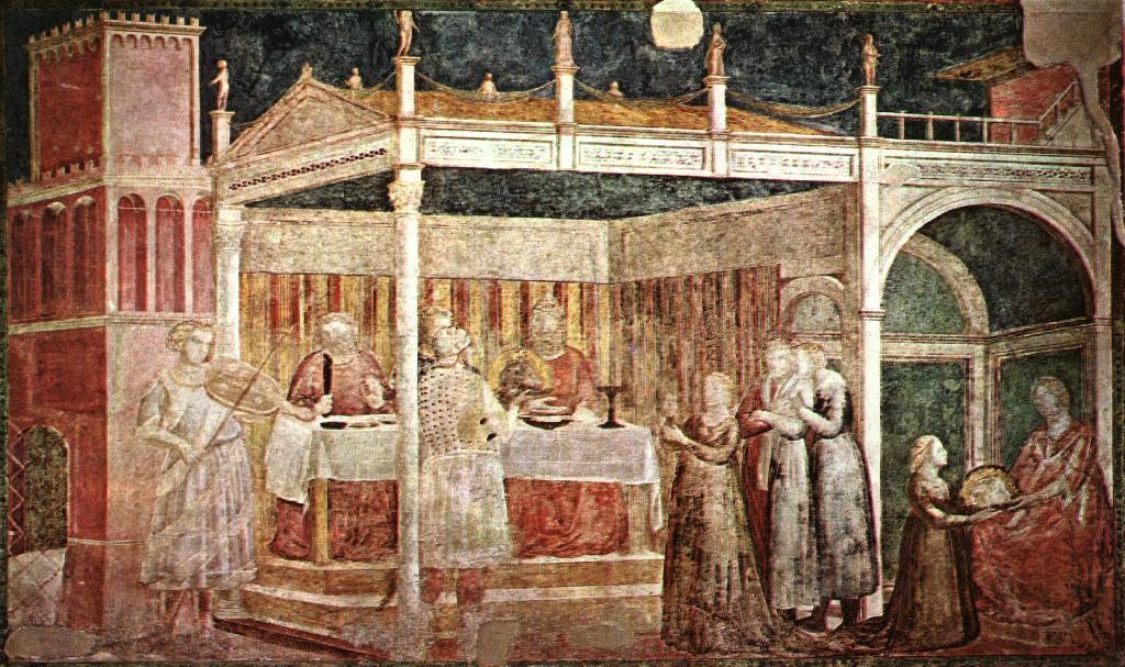 GIOTTO - Banchetto di Erode (1318-22 circa) Basilica di Santa Croce - Cappella Peruzzi (Firenze)