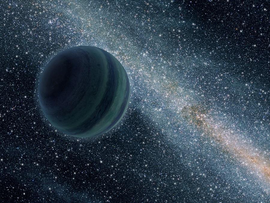 Una visione artistica di un pianeta vagabondo dell'associazione stellare dell'Idra. Fonte: NASA/JPL.