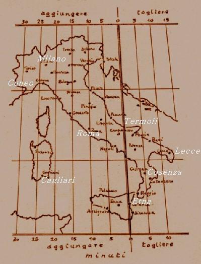 fuso orario italia con nomi