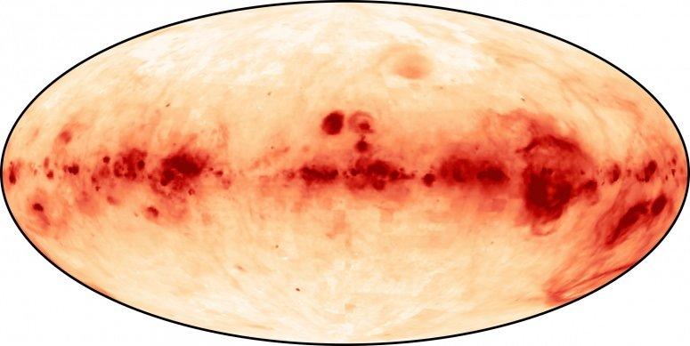 La mappa dell'idrogeno ionizzato della nostra galassia, lo strato di Reynolds, il pioniere scopritore di questa caratteristica peculiare della Via Lattea. Fonte: WHAM Collaboration, University of Wisconsin-Madison, Space Science Institute, & National Science Foundation