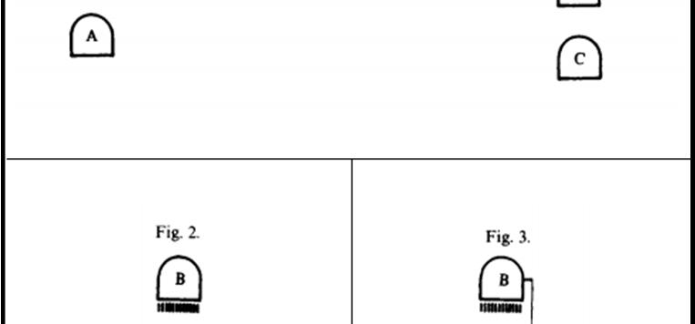 Le prime tre figure, relative al paradosso, estratte dal lavoro di Bell.