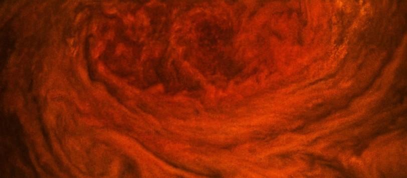 La macchia rossa di Giove fotografata da Juno. Fonte: NASA