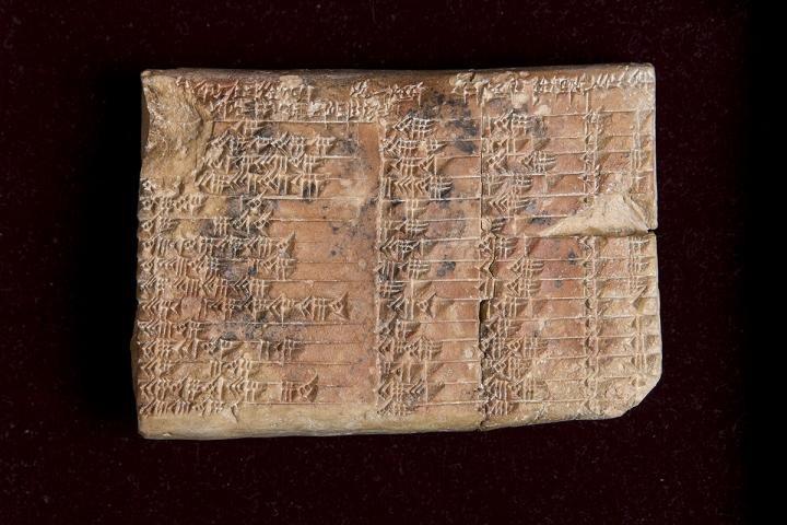 La tavoletta trigonometrica babilonese che si conserva alla Columbia Unversity di New York. Fonte: UNSW/Andrew Kelly