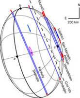 """Le """"corde"""" che hanno permesso la ricostruzione della forma di Haumea e la scoperta del suo anello. Fonte: J.L.Ortiz et al., Nature"""
