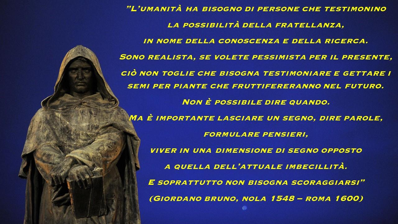 Giordano Bruno Fendo I Cieli E All Infinito M Ergo L
