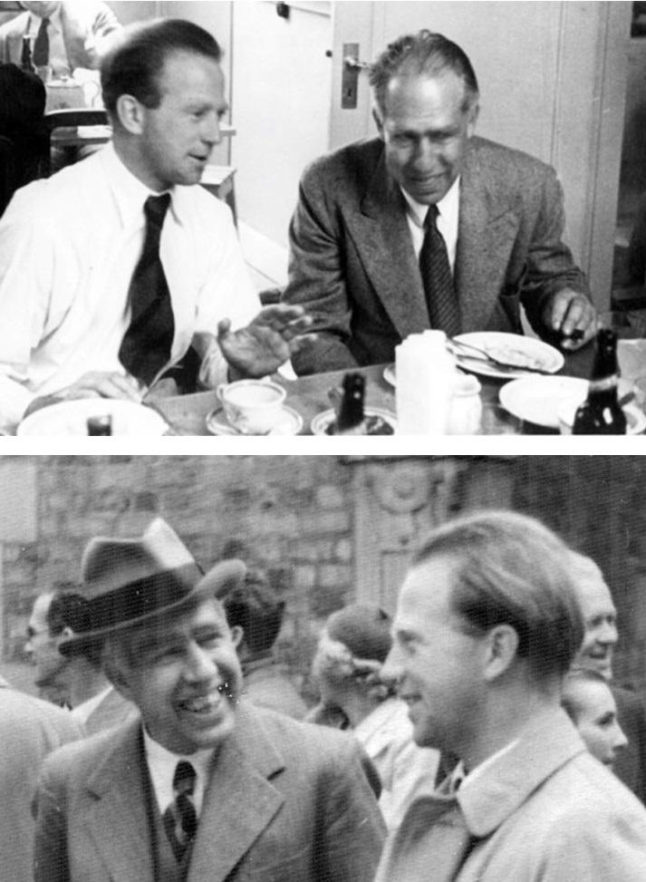Niels Bohr in compagnia di Werner Heisenberg in momenti di relax