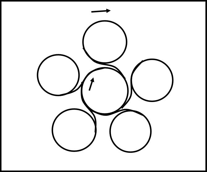 il pentagono circolare di Giove (polo sud)