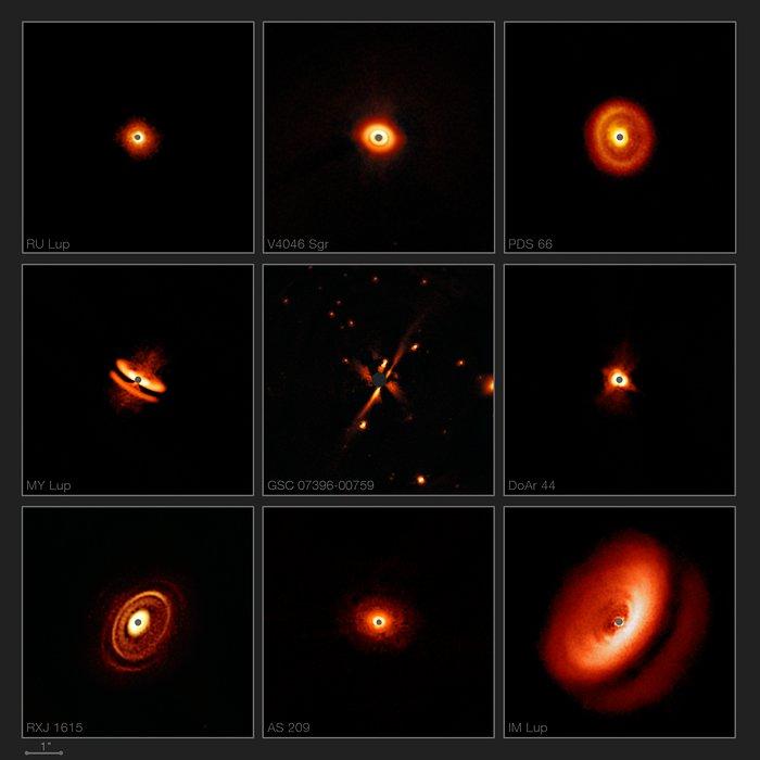 Fonte: ESO/H. Avenhaus et al./E. Sissa et al./DARTT-S and SHINE collaborations
