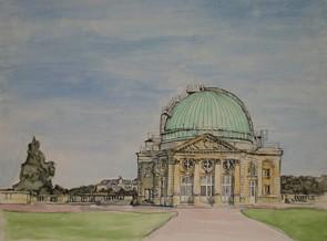 L'osservatorio di Parigi. Credit: Julia Kostelnyk (da un dipinto originale)