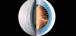 Cassini ha scoperto molecole organiche complesse che vengono lanciate da Encelado verso lo Spazio. Si pensa che processi idrotermali agenti nel nucleo roccioso possano sintetizzare materiale organico da inorganico e che le condizioni geochimiche nell'oceano tiepido possano formare una  vita biologica simile alla nostra. Fonte. NASA/JPL-Caltech/Space Science Institute/LPG-CNRS/Nantes-Angers/ESA