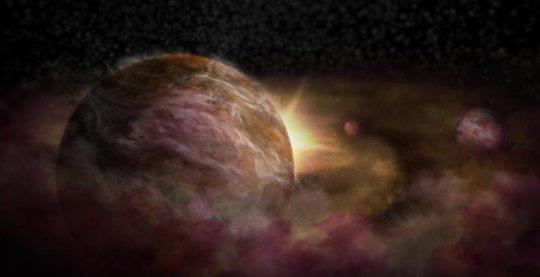 Una visione artistica di un pianeta appena nato, circondato da tanto gas e polvere. Un invito a nozze per un fuoriclasse come ALMA.  Fonte: NRAO/AUI/NSF; S. Dagnello