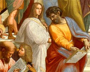 Ipazia d'Alessandria. Raffaello, Scuola d'Atene