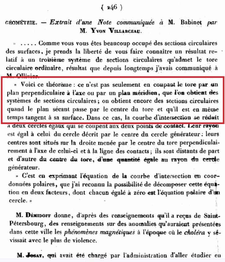 circonferenze di Villarceau