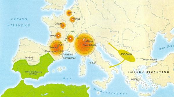 Area di diffusione delle eresie