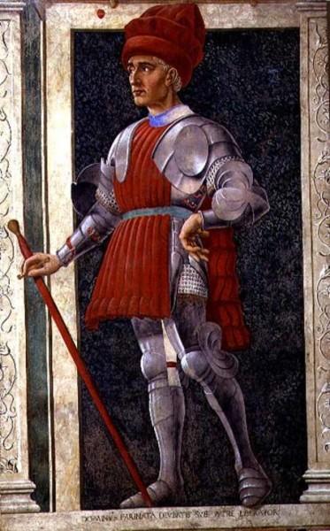 Farinata degli Uberti, affresco di Andrea del Castagno.