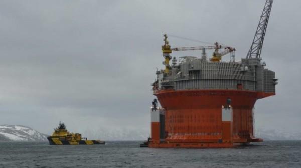 Piattaforma Goliat nel Mare di Barents. Fonte: Eni