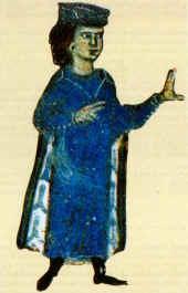 Gugliemo IX d'Aquitania, intellettuale, letterato, trobadore, uomo fondamentale del suo tempo. Miniatura XIII sec.