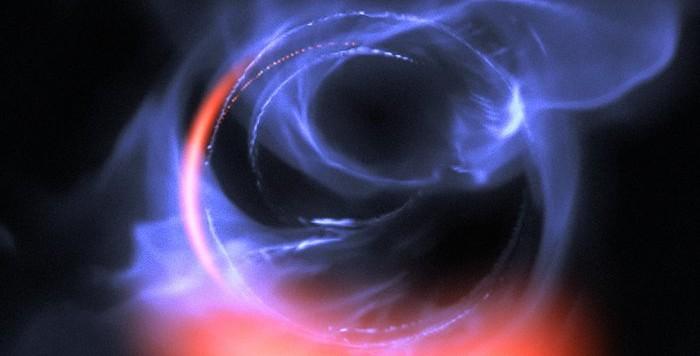 I lampi infrarossi osservati con GRAVITY hanno permesso di ricostruire il disco di accrescimento attorno al nostro buco nero galattico. Fonte: ESO/Gravity Consortium/L. Calçada