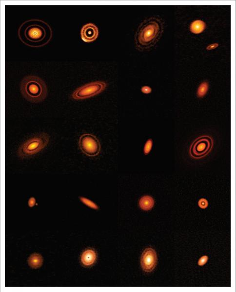 Una fantastica serie di anelli con i chiari segni del lavoro preparatorio per la formazione di pianeti.ALMA (ESO/NAOJ/NRAO), S. Andrews et al.; NRAO/AUI/NSF, S. Dagnello