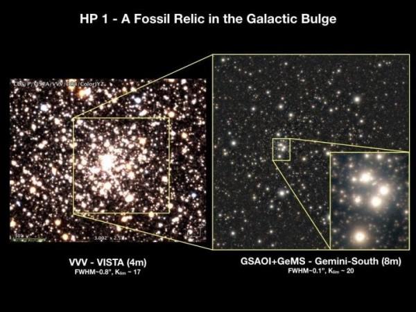 Una serie di zoom ci porta nel cuore di HP1 da VISTA fino a Gemini. Fonte: Gemini Observatory/NSF/AURA/VISTA/Aladin/CDS