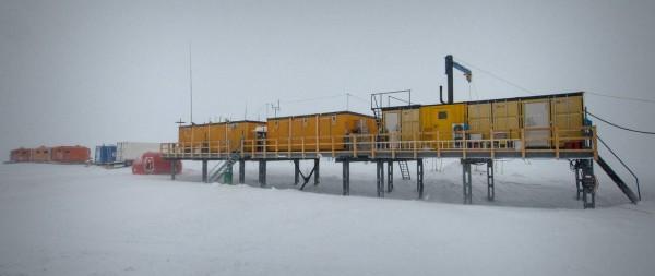 La base antartica, nei cui pressi è stata prelevata la neve sporca di ferro. Fonte: Martin Leonhardt / Alfred-Wegener-Institut (AWI)